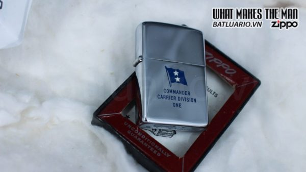 ZIPPO XƯA 1955 – 1956 – COMMANDER CARRIER DIVISION ONE