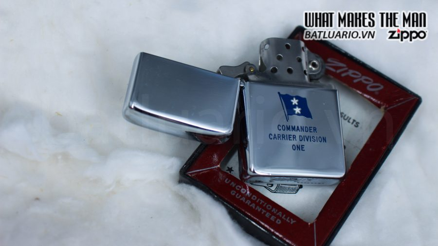 ZIPPO XƯA 1955 – 1956 – COMMANDER CARRIER DIVISION ONE 7