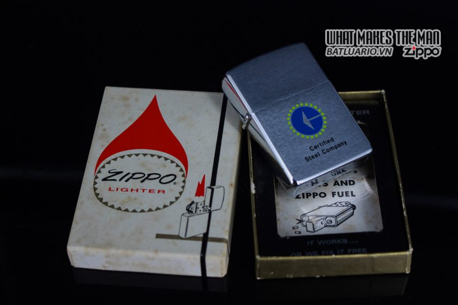 ZIPPO XƯA 1976 – CERTIFIED STEEL COMPANY 1