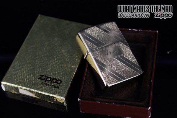 ZIPPO XƯA 1976 – GOLD PLATE GOLDEN ELEGANCE – MẠ VÀNG 22K – PATSY 1
