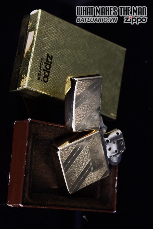 ZIPPO XƯA 1976 – GOLD PLATE GOLDEN ELEGANCE – MẠ VÀNG 22K – PATSY 10