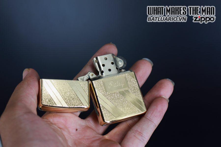 ZIPPO XƯA 1976 – GOLD PLATE GOLDEN ELEGANCE – MẠ VÀNG 22K – PATSY 8