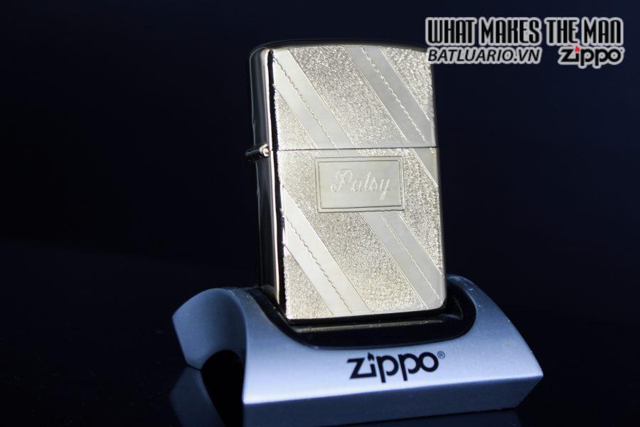 ZIPPO XƯA 1976 – GOLD PLATE GOLDEN ELEGANCE – MẠ VÀNG 22K – PATSY