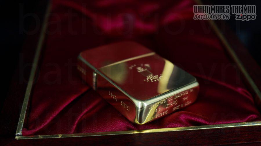 HIẾM -SIÊU PHẨM – ZIPPO SOLID GOLD 18K – ZIPPO GGB 1941 – LIMITED 24/300 15