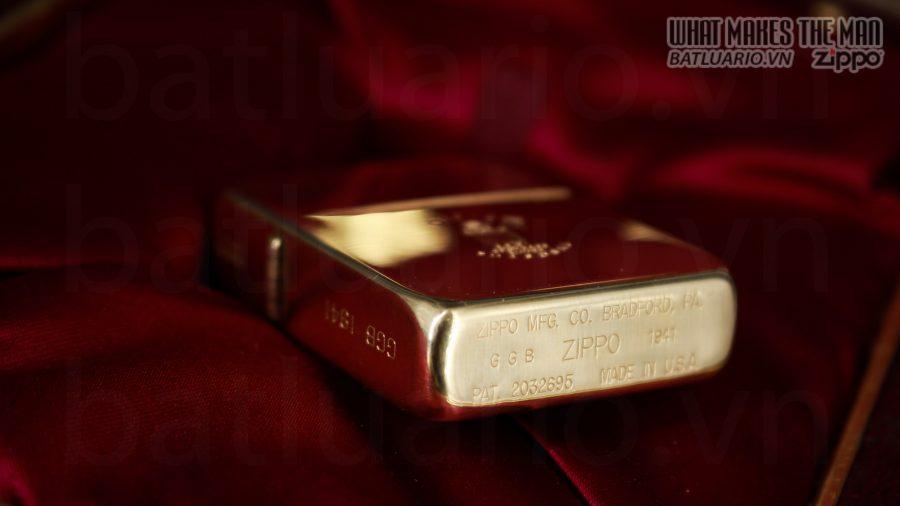 HIẾM -SIÊU PHẨM – ZIPPO SOLID GOLD 18K – ZIPPO GGB 1941 – LIMITED 24/300 18