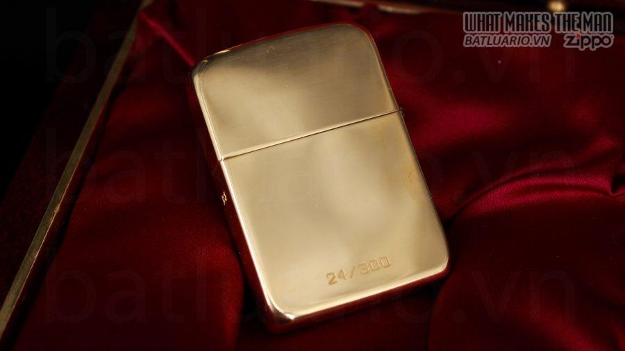 HIẾM -SIÊU PHẨM – ZIPPO SOLID GOLD 18K – ZIPPO GGB 1941 – LIMITED 24/300 19