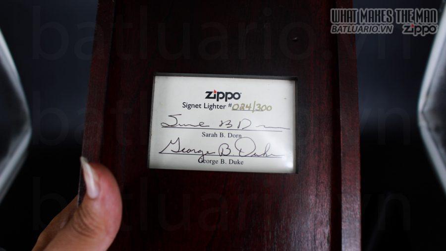 HIẾM -SIÊU PHẨM – ZIPPO SOLID GOLD 18K – ZIPPO GGB 1941 – LIMITED 24/300 25