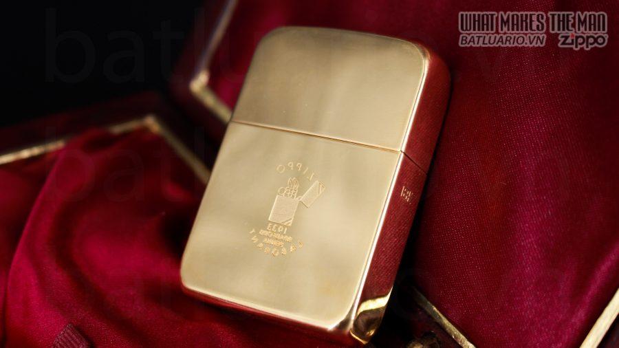 HIẾM -SIÊU PHẨM – ZIPPO SOLID GOLD 18K – ZIPPO GGB 1941 – LIMITED 24/300 30