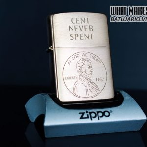 ZIPPO 2003 – CENT NEVER SPENT – SOLID COPPER