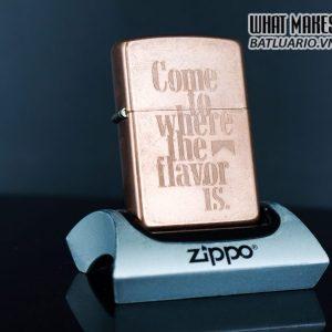 ZIPPO 2003 – SOLID COPPER – MARLBORO – COME TO WHERE THE FLAVOR IS