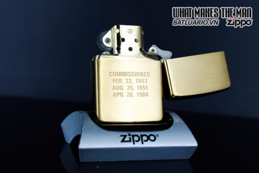 ZIPPO CHU NIÊN 1932 - 1984 - USS IOWA BB61 4