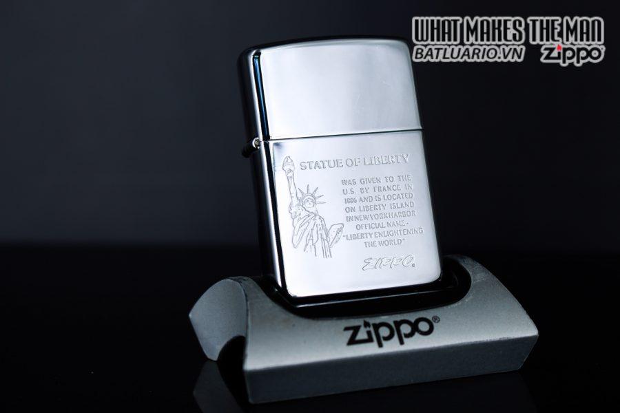 ZIPPO LA MÃ 1990 – STATUE OF LIBERTY