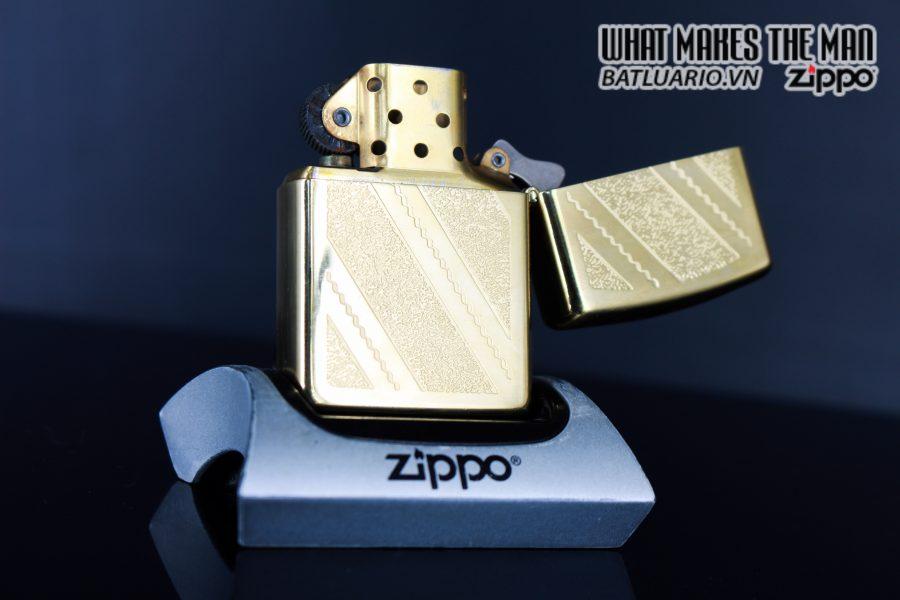 ZIPPO LA MÃ 1992 – GOLD PLATE GOLDEN ELEGANCE – MẠ VÀNG 22K 2