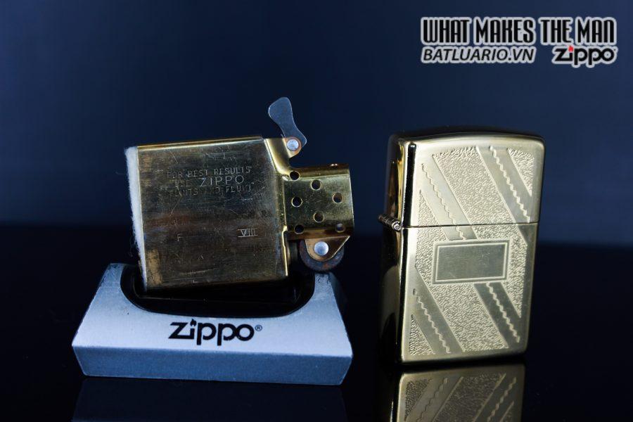 ZIPPO LA MÃ 1992 – GOLD PLATE GOLDEN ELEGANCE – MẠ VÀNG 22K 4