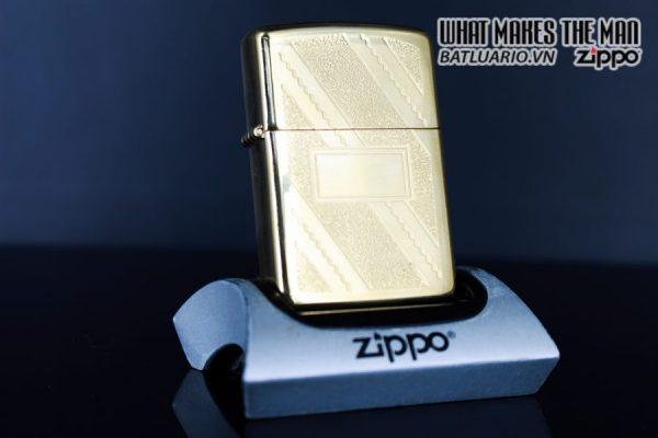 ZIPPO LA MÃ 1992 – GOLD PLATE GOLDEN ELEGANCE – MẠ VÀNG 22K