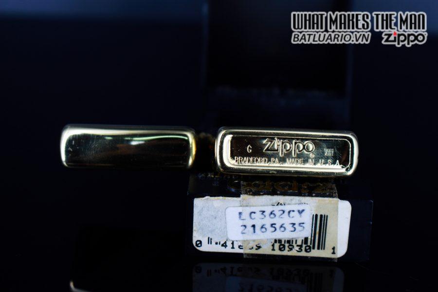 ZIPPO LA MÃ 1992 – GOLD PLATE GOLDEN ELEGANCE – MẠ VÀNG 22K 7