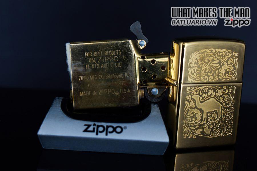ZIPPO LA MÃ 1996 – CAMEL – GOLD PLATE 22K 2