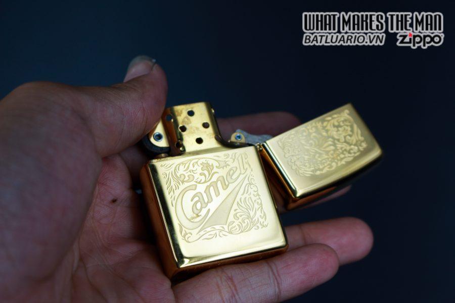 ZIPPO LA MÃ 1996 – CAMEL – GOLD PLATE 22K 3