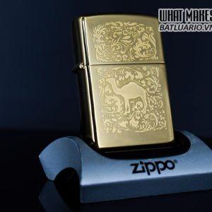 ZIPPO LA MÃ 1996 – CAMEL – GOLD PLATE 22K