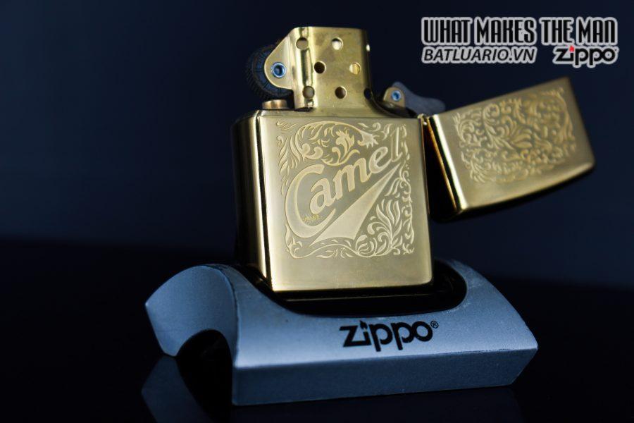 ZIPPO LA MÃ 1996 – CAMEL – GOLD PLATE 22K 5