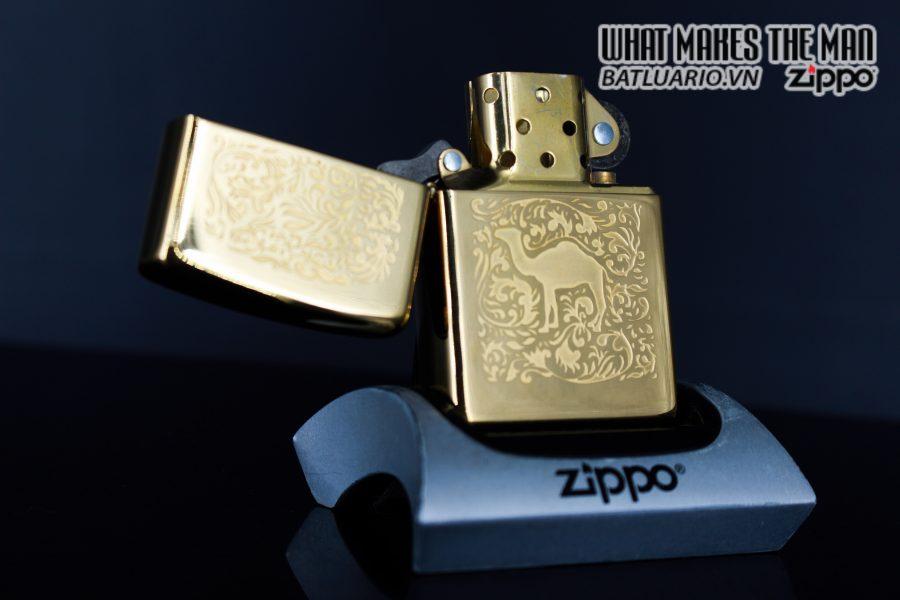 ZIPPO LA MÃ 1996 – CAMEL – GOLD PLATE 22K 6