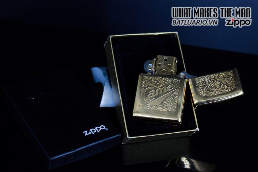 ZIPPO LA MÃ 1996 – CAMEL – GOLD PLATE 22K 7