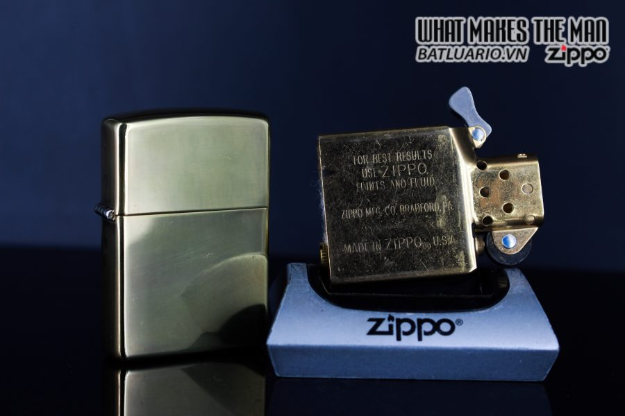 ZIPPO LA MÃ 1996 – ĐỒNG NGUYÊN KHỐI – HIGH POLISHED BRASS 4