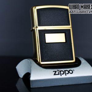 ZIPPO LA MÃ 1997 – GOLD PLATE – ZIPPO ULTRALITE BLACK