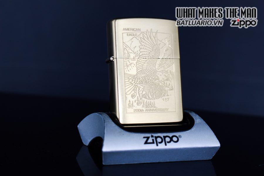 ZIPPO LA MÃ 1999 – 200TH ANNIVERSARY AMERICAN EAGLE – GOLD PLATE