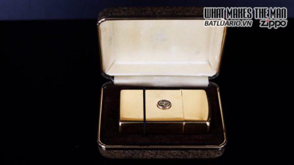 ZIPPO SLIM 1978 – GOLD PLATE – EMBLEM 10K 1