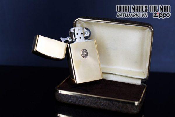 ZIPPO SLIM 1978 – GOLD PLATE – EMBLEM 10K 7