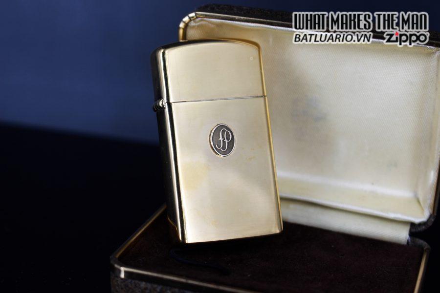 ZIPPO SLIM 1978 – GOLD PLATE – EMBLEM 10K