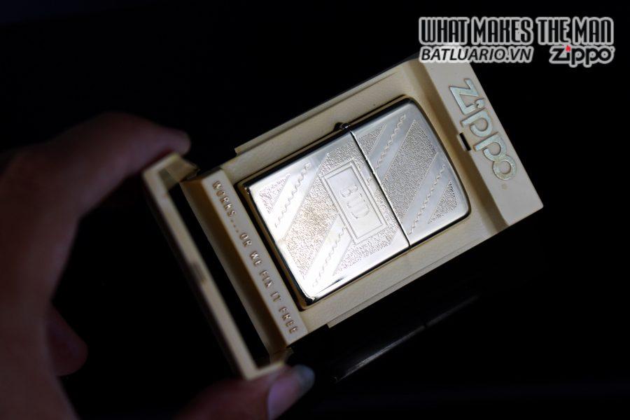 ZIPPO XƯA 1981 – GOLD PLATE GOLDEN ELEGANCE – MẠ VÀNG 22K – BUD 1