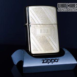 ZIPPO XƯA 1981 – GOLD PLATE GOLDEN ELEGANCE – MẠ VÀNG 22K – BUD