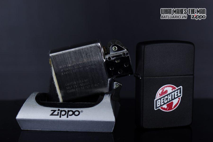 ZIPPO 1985 - BECHTEL - BLACK MATTE