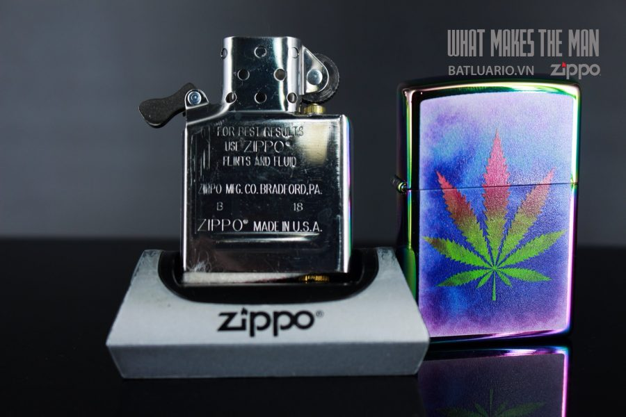 ZIPPO 151 THE DYED POT LEAF 10