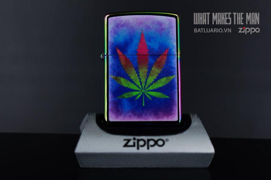 ZIPPO 151 THE DYED POT LEAF 2
