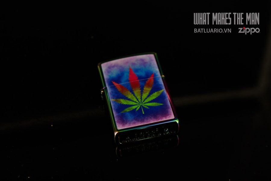 ZIPPO 151 THE DYED POT LEAF 5