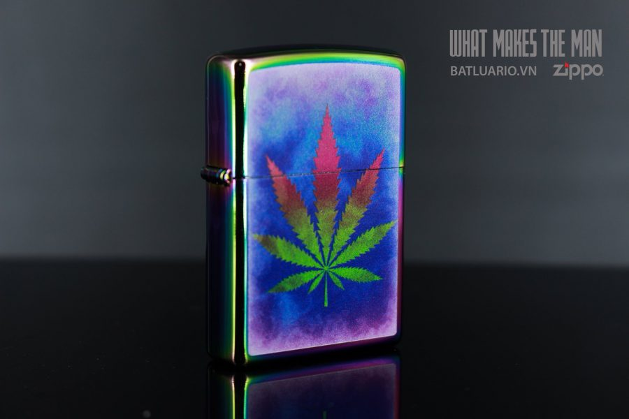 ZIPPO 151 THE DYED POT LEAF 6