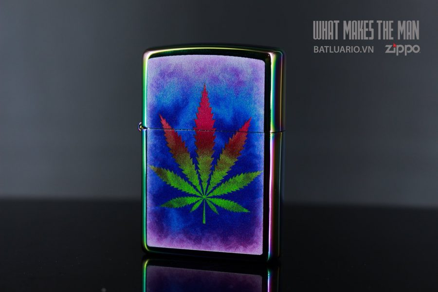 ZIPPO 151 THE DYED POT LEAF 7