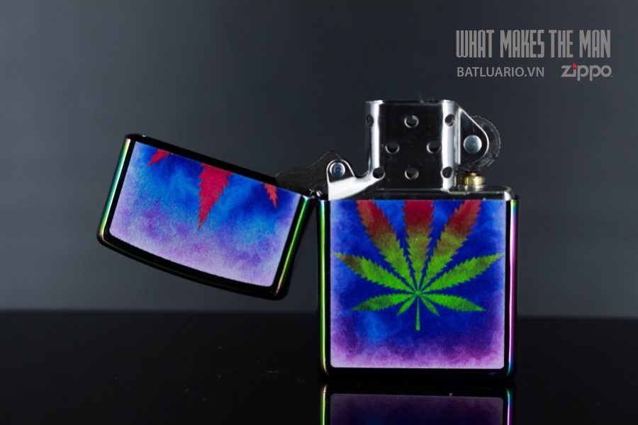 ZIPPO 151 THE DYED POT LEAF 9
