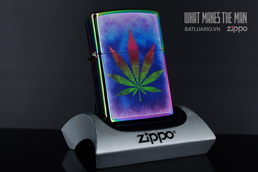 ZIPPO 151 THE DYED POT LEAF