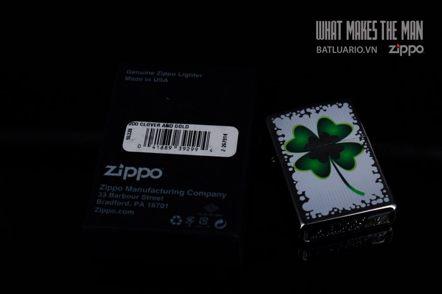ZIPPO 200 CLOVER AND GOLD 1