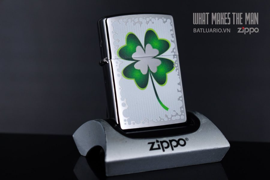 ZIPPO 200 CLOVER AND GOLD