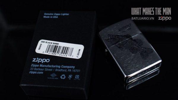 ZIPPO 200 FISH BLACK 1