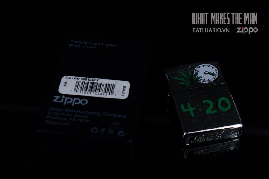 ZIPPO 200 LEAF 420 CLOCK 1