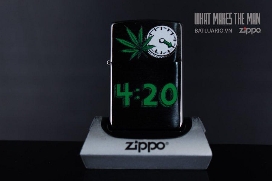 ZIPPO 200 LEAF 420 CLOCK 2