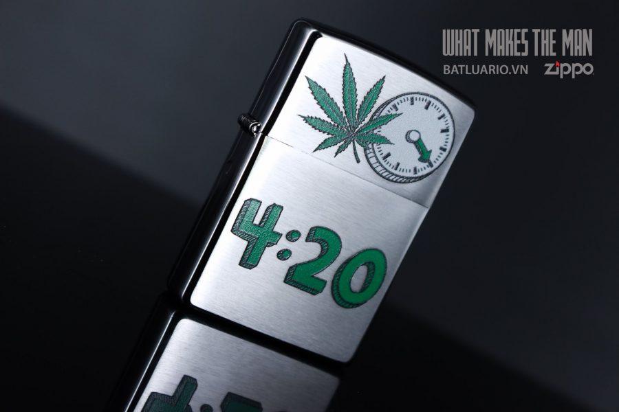 ZIPPO 200 LEAF 420 CLOCK 5