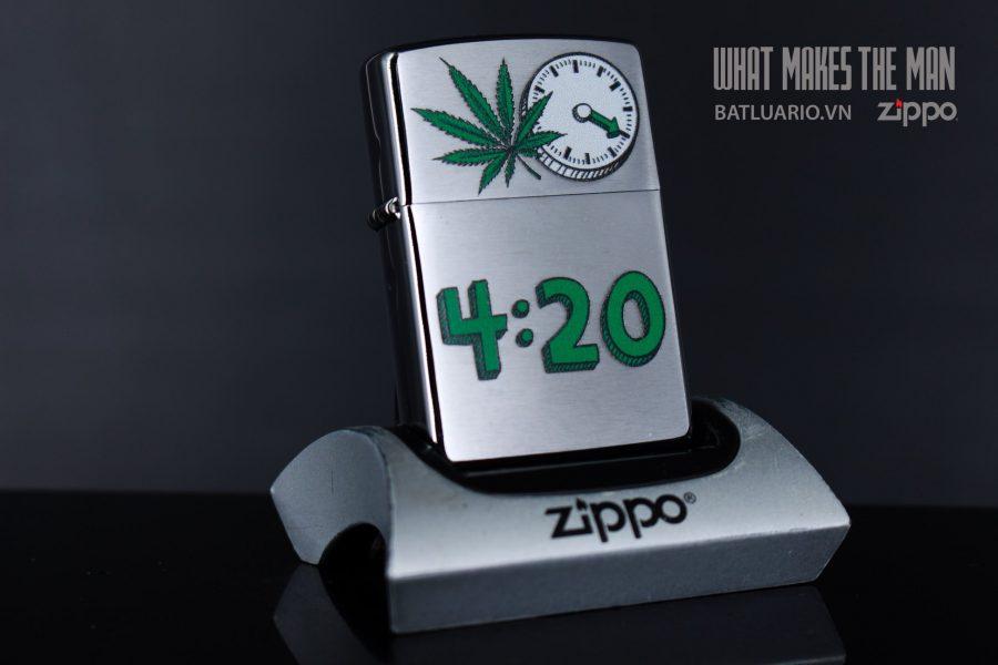 ZIPPO 200 LEAF 420 CLOCK