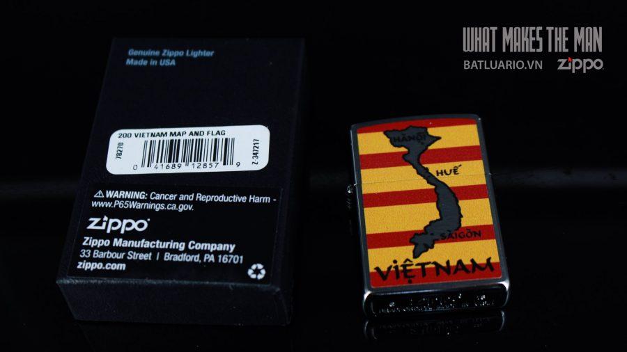 ZIPPO 200 VIETNAM MAP AND FLAG 1